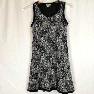 Ann Taylor LOFT Sleeveless Black Floral Tank Dress